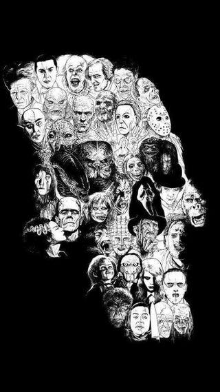 Обои на телефон хищник, черные, череп, хэллоуин, фильмы, ужасы, стивен, призрак, оно, мертвый, король, зло, белые, stephen king, scream, horror movies, ghost, evil dead