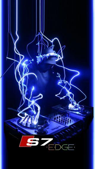 Обои на телефон электрические, стол, огни, музыка, диджей, грани, s7 electricdj, s7, dj, disk, d12u