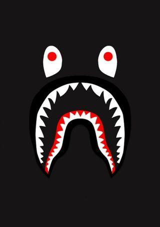 Обои на телефон бейп, акула, supreme