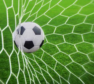 Обои на телефон трава, футбольные, мяч