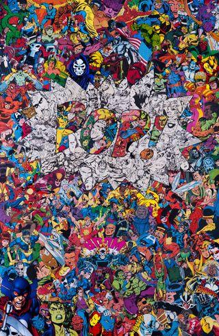 Обои на телефон поп, коллаж, марвел, комиксы, marvel studios, marvel comic, comic collage pop