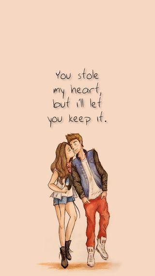 Обои на телефон рисунки, цитата, сердце, мой, милые, любовь, высказывания, stole my heart, stole, love