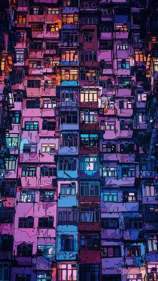 Обои на телефон окно, ретро, красочные, арт, art, apartments