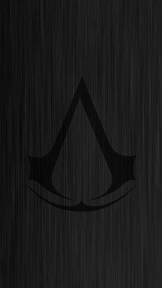 Обои на телефон ассасин, темные, логотипы, крид, игры, дерево, logo ac on wood