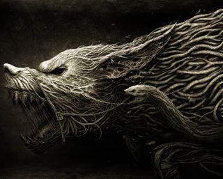 Обои на телефон змея, фантазия, готические, волк, roots