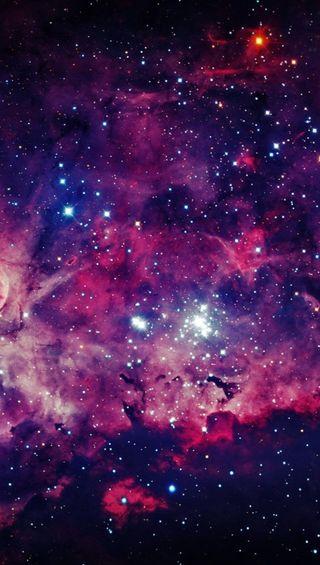 Обои на телефон фиолетовые, туманность, космос, галактика, galaxy