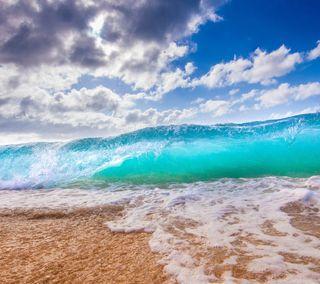 Обои на телефон песок, пляж, океан, море, волна, вода, beach wave