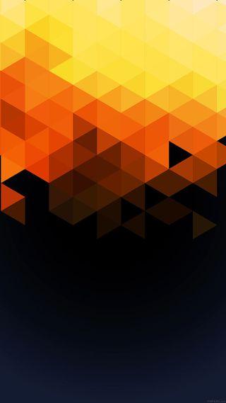 Обои на телефон геометрические, шаблон, формы, осень, оранжевые, дизайн