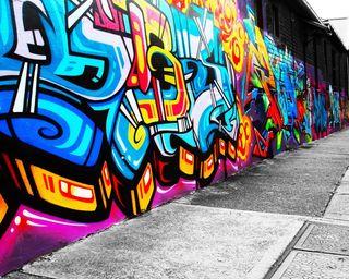 Обои на телефон граффити, стена, городские, арт, graffiti wall 4, art