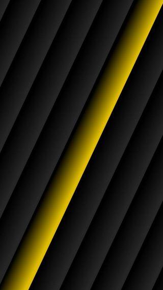 Обои на телефон креативные, черные, фон, материал, линии, желтые, дизайн, абстрактные, yellow line
