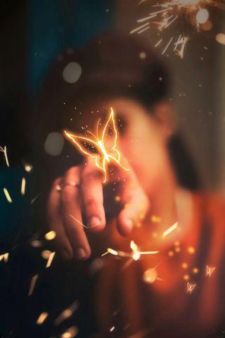 Обои на телефон ты, счастливые, сказать, свеча, свет, пожелания, зажигалка, грустные, бабочки, sorry, let, happy