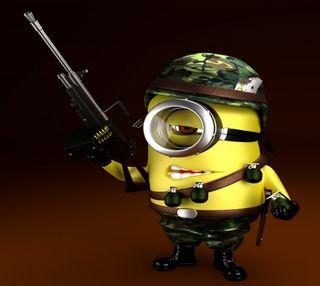 Обои на телефон я, солдат, мультфильмы, миньоны, забавные, soldier minion, minion soldier, cartoon funny