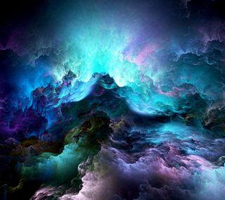 Обои на телефон облака, синие, небо, космос, галактика, galaxy