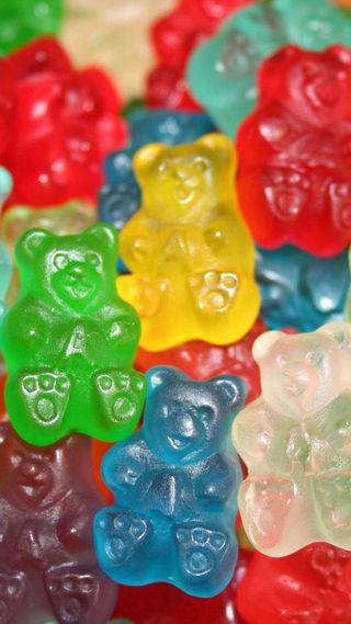 Обои на телефон медведи, желе, gummy, chewy, candies
