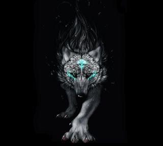 Обои на телефон фантазия, волк, fantasy wolf