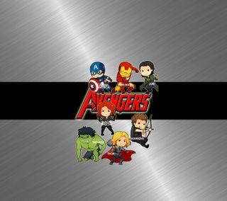 Обои на телефон металлические, мстители, крутые, avengers chibis