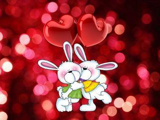 Обои на телефон шары, поцелуй, сердце, милые, любовь, день, love, bunnies, 640 x 480