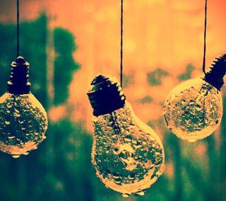 Обои на телефон дождь, день, bulbs