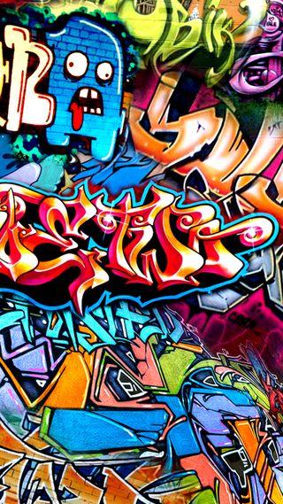 Обои на телефон цветные, граффити, графика