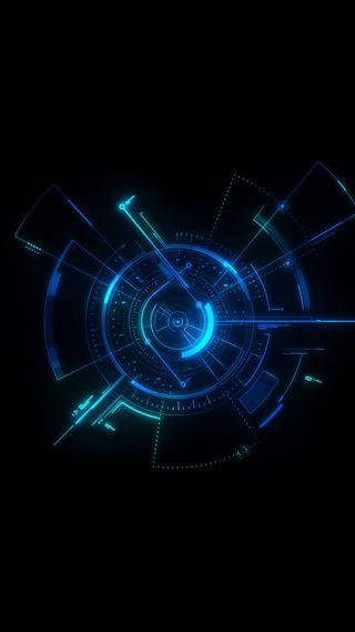 Обои на телефон технология, фантазия, технологии, неоновые, минимализм, круги, время, techedout, target, revolving, center