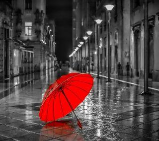 Обои на телефон ----------------, red umbrella, красые, амбрелла
