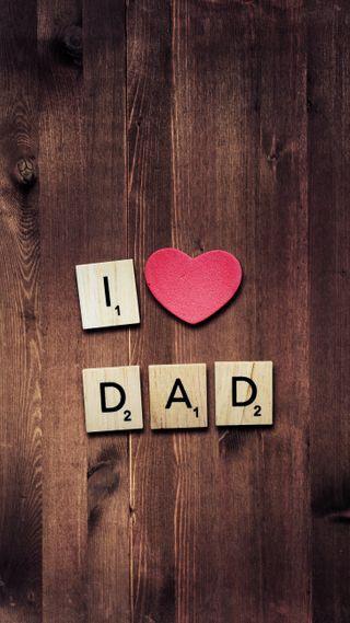 Обои на телефон отец, день, сердце, i heart dad