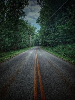 Обои на телефон тихий, дороги, спокойные, путешествие, природа, новый, зеленые, дорога, деревья, upstate, road less traveled