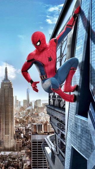 Обои на телефон человек паук, паук, новый, марвел, костюм, капитан, дом, гражданская, война, marvel, man, coming