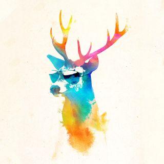 Обои на телефон олень, ретро, очки, крутые, забавные, lentes, gafas, deer with glasses, ciervocongafas, cierv, alce