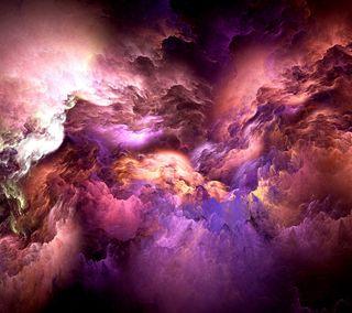 Обои на телефон цветные, облака, дым, абстрактные