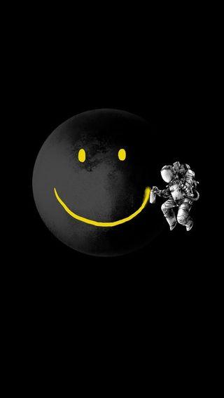 Обои на телефон смайлики, луна, жизнь