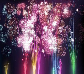 Обои на телефон вечеринка, цветные, фейерверк, счастливые, празднование, новый, жизнь, 2014