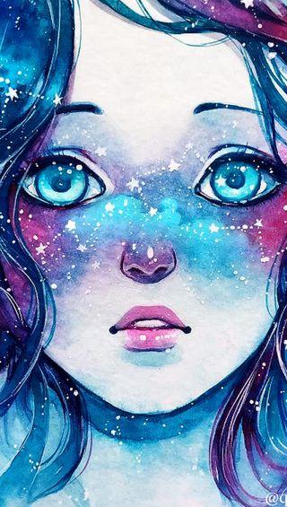 Обои на телефон сломанный, цветные, слеза, розовые, звезды, девушки, глаза, вода, абстрактные, lost