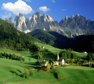 Обои на телефон рок, приятные, природа, пейзаж, дерево, горы