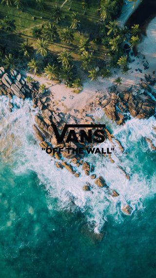 Обои на телефон тропические, природа, пляж, логотипы, бренды, vans