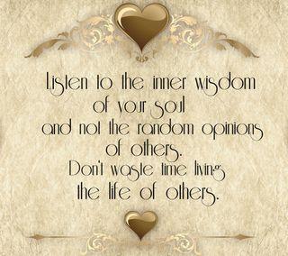 Обои на телефон случайные, цитата, текст, твой, слушать, поговорка, мудрость, opinions, listen to your, inner