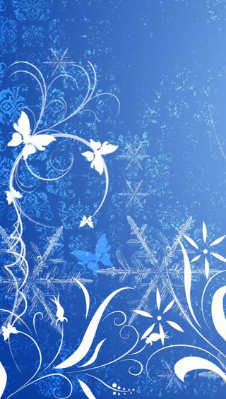 Обои на телефон снежинки, цветы, синие, звезда, абстрактные, butterflu