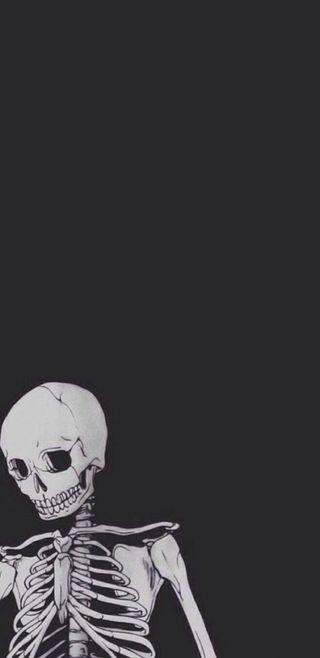 Обои на телефон ужасные, хэллоуин, скелет, монтаж