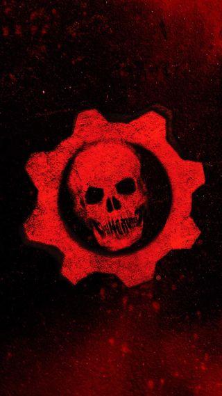 Обои на телефон шестерни, престолы, сказочные, огонь, логотипы, кровь, игра, война, gears of war augurio, gears of war