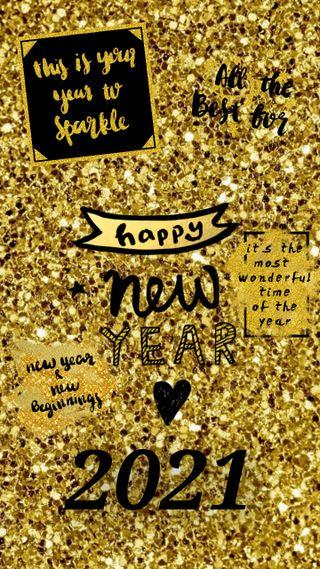 Обои на телефон праздновать, праздник, новый, золотые, год, new year 2021