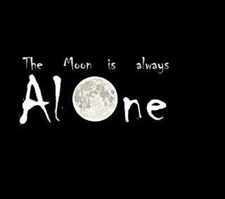 Обои на телефон правда, одиночество, ночь, луна, грустные