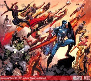 Обои на телефон росомаха, халк, тор, паук, мстители, мир, марвел, marvel, avengers world