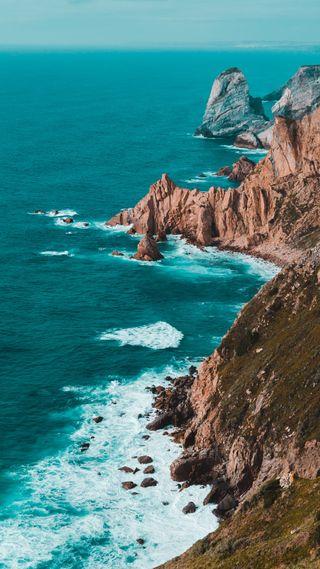 Обои на телефон красота, природа, море, лето, камни, берег