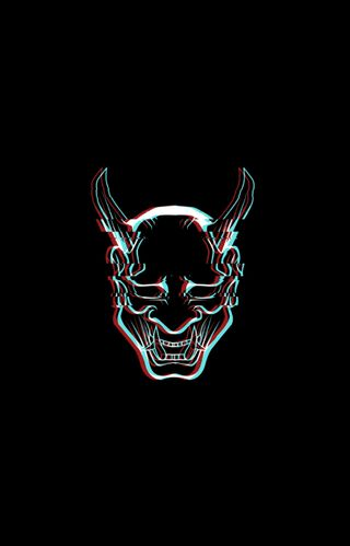 Обои на телефон дьявол, страшные, сбой, демон, simplistic
