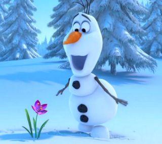 Обои на телефон холодное, цветы, счастливые, снеговик, снег, олаф, зима, happy