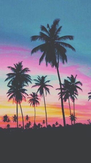 Обои на телефон пляж, закат