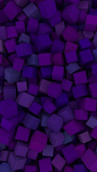 Обои на телефон кубы, цветные, фиолетовые