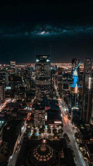 Обои на телефон городские, чикаго, фото, пейзаж, огни, нью йорк, ночь, неоновые, зеленые, город, packers