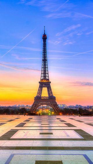 Обои на телефон эйфелева башня, париж, небо, башня