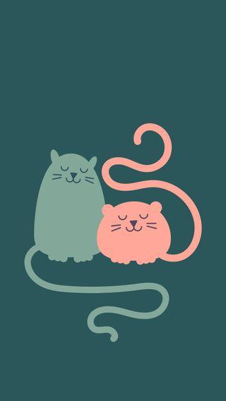 Обои на телефон иллюстрации, рисунки, кошки, котята, zoe, zedgecats, zac and zoe, zac, hd